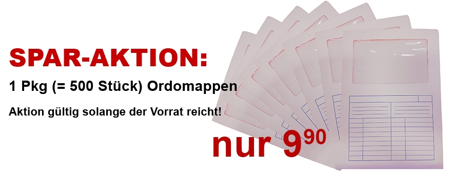 SPAR-AKTION: 500 Stück Ordomappen nur 9,90 EUR