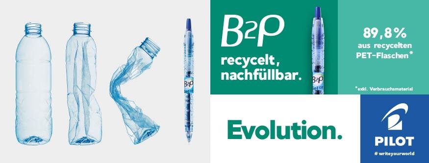 B2P - Von der Flasche zum Stift