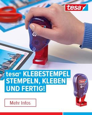 TESA Klebestempel - Stempeln, Kleben, Fertig!