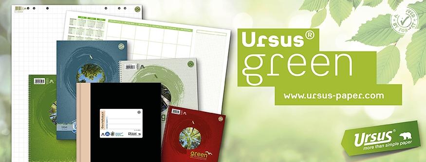 URSUS Green: Schul- und Büroartikel für Verantwortungsbewusste!