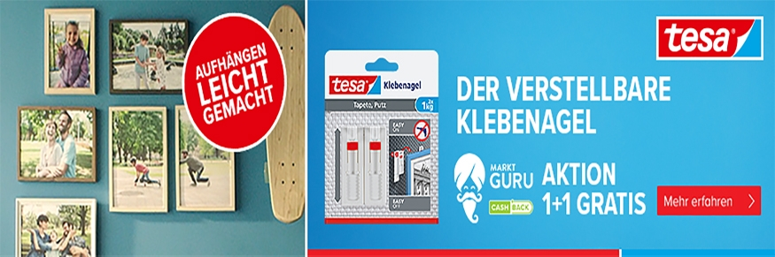 tesa CASH-BACK: 1+1 Gratis über marktguru.at