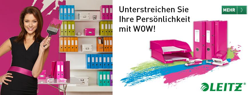 LEITZ WOW - bringt Farbe in Ihr Büro!