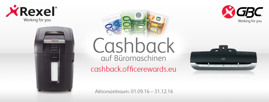 Rexel - Cashback auf Auto+ Aktenvernichter