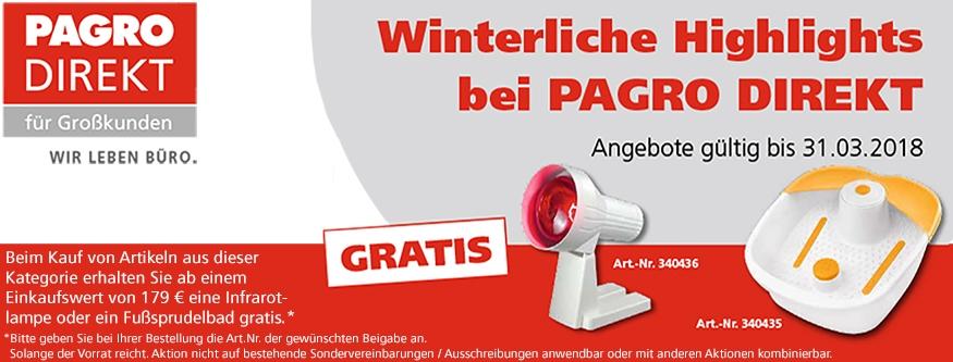 Winterliche Highlights bei PAGRO DIREKT