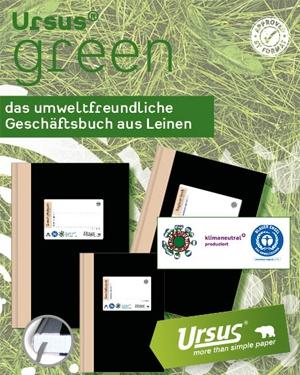 Das umweltfreundliche Geschäftsbuch von URSUS GREEN
