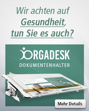 ORGADESK Dokumentenhalter – Ergonomie am Arbeitsplatz